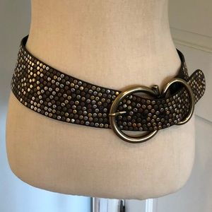 LF GENUINE LEATHER embellished & studded belt